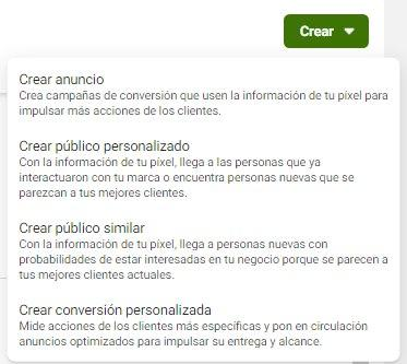 Utiliza la Herramienta de Configuración de Eventos de Facebook, opción del menú para configurar conversiones personalizadas para tu píxel de Facebook - Seiren Digital