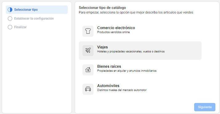 Usa la Herramienta de Configuración de Eventos de Facebook, opciones de categorías de la industria para tu catálogo de anuncios de Facebook - Seiren Digital
