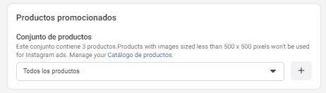 Utiliza la Herramienta de Configuración de Eventos de Facebook, opción del menú de Facebook para seleccionar qué productos mostrar a los clientes - Seiren Digital