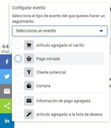 Usa la Herramienta de Configuración de Eventos de Facebook, establece el evento asociado con el botón de clic - Seiren Digital